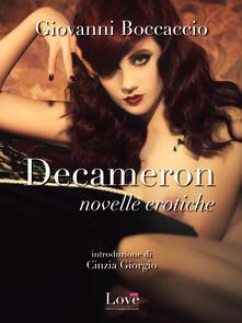 Decameron, novelle erotiche - Giovanni Boccaccio - ebook