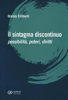 Steamcon.it Il sintagma discontinuo. Possibilità, poteri, diritti Image