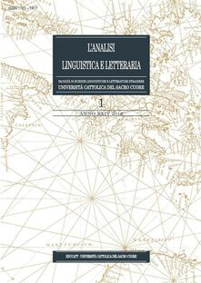 L' analisi linguistica e letteraria (2016). Vol. 1 - Aa.Vv. - ebook
