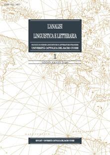 Radiospeed.it L' analisi linguistica e letteraria (2020). Vol. 1 Image