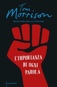 L' importanza di ogni parola - Toni Morrison - copertina