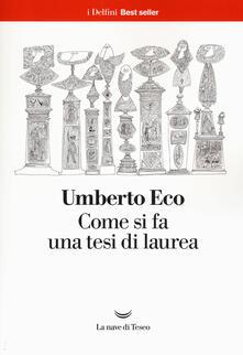 Come si fa una tesi di laurea - Umberto Eco - copertina
