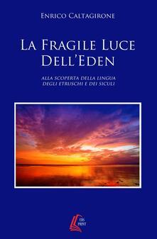 Writersfactory.it La fragile luce dell'Eden. Alla scoperta della lingua degli etruschi e dei siculi Image
