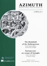 Libro Azimuth. Ediz. italiana e inglese (2017). Vol. 9: Antropocene: un campo di battaglia. Limiti, responsabilità e il dovere di fuga.