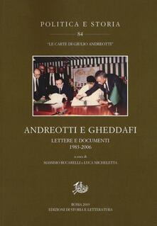 Festivalpatudocanario.es Andreotti e Gheddafi. Lettere e documenti 1983-2006 Image