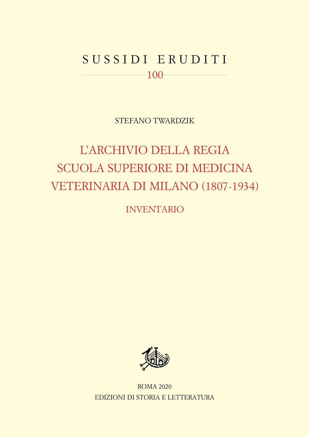 Image of Archivio della Regia Scuola superiore di medicina veterinaria di Milano (1807-1934). Inventario