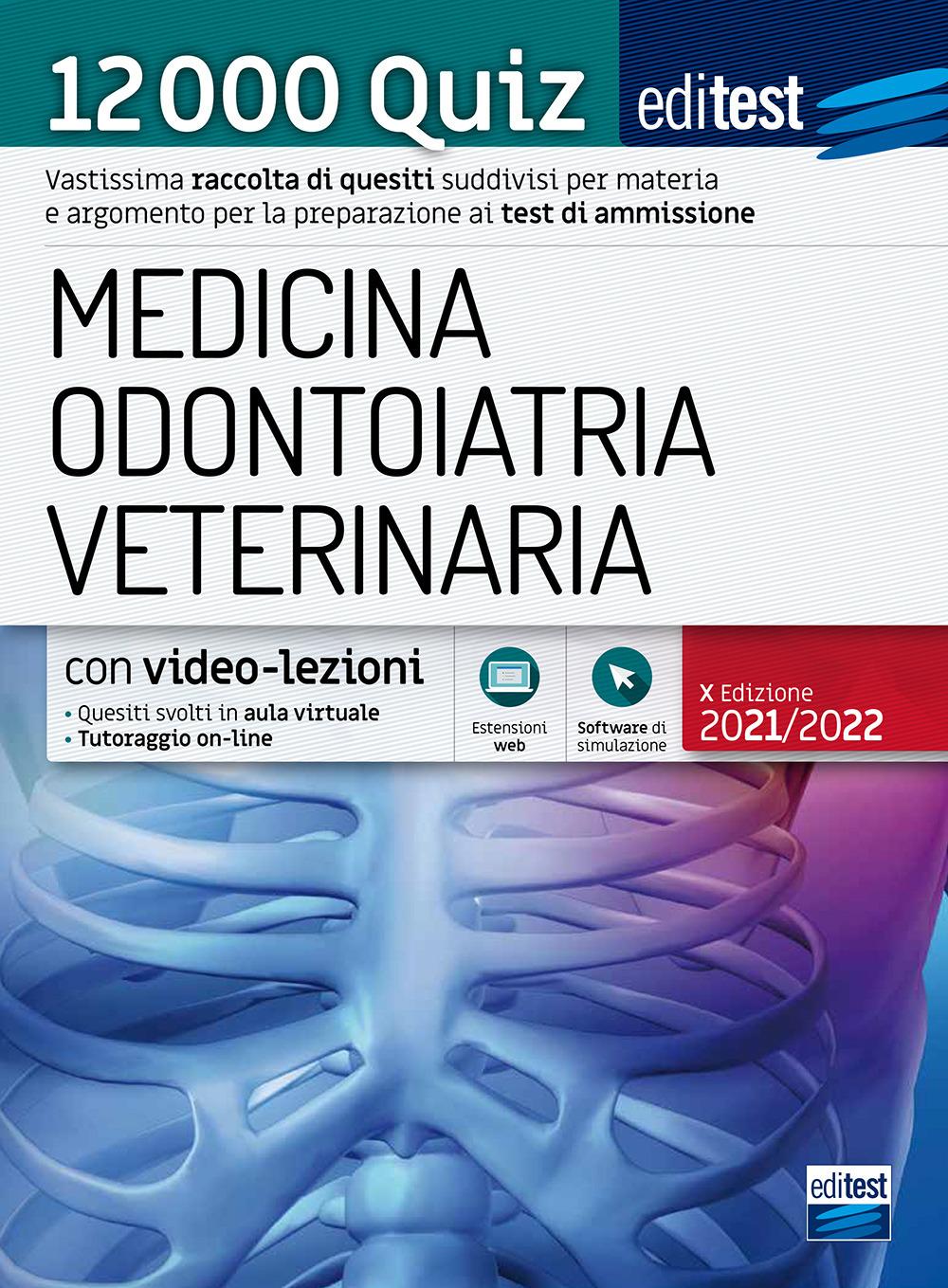 Image of EdiTEST. Medicina, Odontoiatria, Veterinaria. 12000 quiz. Con espansione online. Con software di simulazione