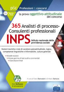 Listadelpopolo.it 365 analisti di processo-consulenti professionali. La prova oggettivo-attitudinale del concorso. Con Contenuto digitale per accesso on line Image