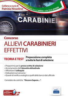 Winniearcher.com Concorso allievi carabinieri effettivi. Preparazione completa a tutte le fasi di selezione Image