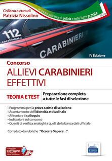 Osteriacasadimare.it Concorso allievi carabinieri effettivi. Preparazione completa a tutte le fasi di selezione Image