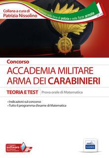 Lpgcsostenible.es Concorso Accademia. Arma dei Carabinieri. Teoria e test. Prova orale di matematica Image