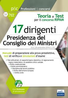 Vitalitart.it Concorso RIPAM per 17 dirigenti Presidenza Consiglio dei Ministri. Teoria e test per la preselezione. Con software di simulazione Image