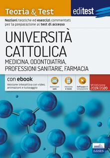 Listadelpopolo.it EdiTEST. Università Cattolica. Medicina. Teoria & test. Con e-book Image
