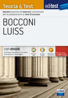 Parcoarenas.it Editest. Bocconi Luiss. Teoria & test. Nozioni teoriche ed esercizi commentati per la preparazione ai test di accesso Image