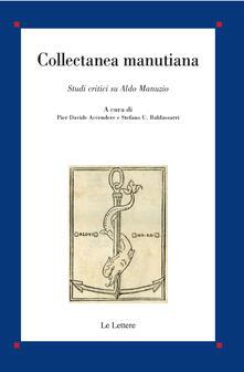 Filippodegasperi.it Collectanea Manutiana. Studi critici su Aldo Manuzio Image