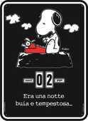 Cartoleria Calendario perpetuo Peanuts. Snoopy. Era una notte buia e tempestosa… Magazzini Salani