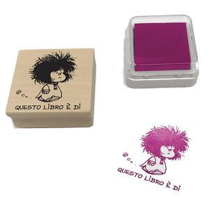Timbro ex libris Mafalda. Questo libro è di…