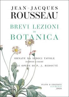 Brevi lezioni di botanica - Jean-Jacques Rousseau - copertina