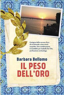 Il peso dell'oro - Barbara Bellomo - copertina
