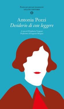 Desiderio di cose leggere - Antonia Pozzi - copertina