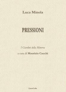 Pressioni - Luca Minola - copertina