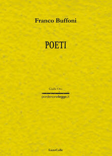 Poeti - Franco Buffoni - copertina