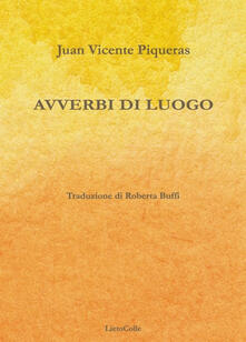Avverbi di luogo - Juan Vicente Piqueras - copertina
