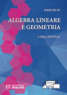 Esercizi di algebra lineare e geometria - Carla Novelli - copertina