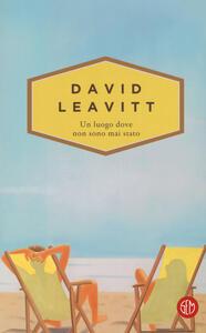 Un luogo dove non sono mai stato - David Leavitt - copertina
