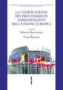 La codificazione dei procedimenti amministrativi dell'Unione europea - copertina