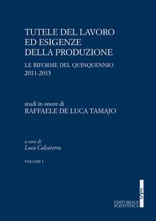 Tutele del lavoro ed esigenze della produzione. Le riforme del quinquennio 2011-2015. Studi in onore di Raffaele De Luca Tamajo - copertina