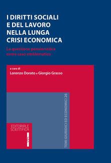 I diritti sociali e del lavoro nella lunga crisi economica. La questione pensionistica come caso emblematico - copertina