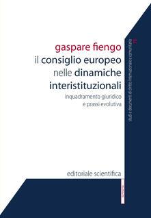 Il Consiglio europeo nelle dinamiche interistituzionali. Inquadramento giuridico e prassi evolutiva - Gaspare Fiengo - copertina