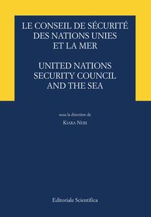 Le conseil de sécurité des Nations Unies et de la mer-United Nations security council and the sea - copertina