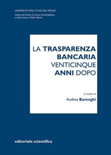 La trasparenza bancaria venticinque anni dopo - copertina