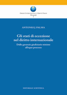 Gli stati di eccezione nel diritto internazionale. Dalle garanzie giudiziarie minime all'equo processo - Antonio J. Palma - copertina