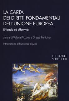 La Carta dei diritti fondamentali dell'Unione Europea. Efficacia ed effettività - copertina