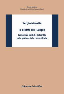 Le forme dell'acqua. Economia e politiche del diritto nella gestione delle risorse idriche - Sergio Marotta - copertina