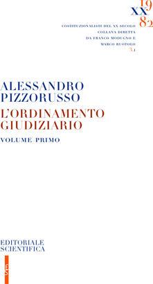 L' ordinamento giudiziario. Vol. 1 - Alessandro Pizzorusso - copertina