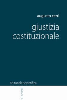 Giustizia costituzionale - Augusto Cerri - copertina