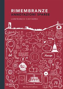 Rimembranze. Annotazioni sparse - Lanfranco Caffarra - copertina