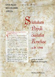 Statutum Populi ciuitatis Ameliae a.D. 1346. Testo latino a fronte - copertina