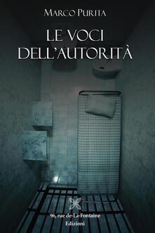 Le voci dell'autorità - Marco Purita - copertina