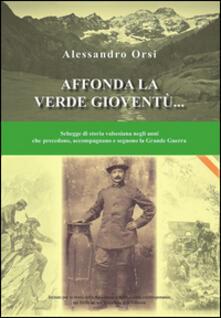 Affonda la verde gioventù... Schegge di storia valsesiana negli anni che precedono, accompagnano e seguono la grande guerra - Alessandro Orsi - copertina