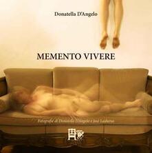 Memento vivere - Donatella D'Angelo - copertina