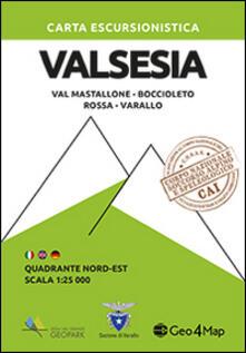 Lpgcsostenible.es Carta escursionistica Valsesia quadrante Nord Est. Val Mastallone, Boccioleto, Rossa, Varallo Image