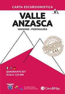 Voluntariadobaleares2014.es Carta escursionistica Valle Anzasca quadrante Est. Ediz. italiana, inglese e tedesca. Vol. 6: Vanzone, Piedimulera. Image