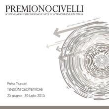 Pietro Mancini. Tensioni geometriche. Premio Novicelli - copertina