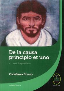 De la causa, principio et uno - Giordano Bruno - copertina