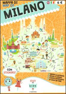 Mappa di Milano illustrata. Ediz. italiana e inglese - copertina
